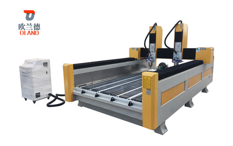 4 Axis Rotary CNC Stone Router Machine Strong Bearing Capacity For Carving Column