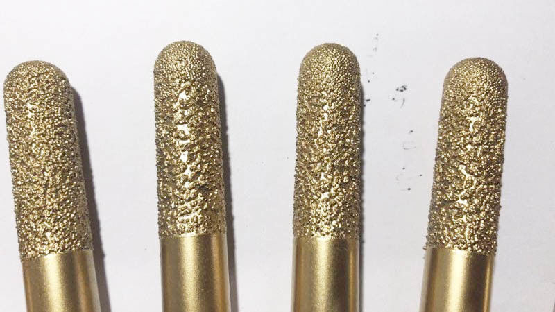 16mm Diamond Engraving Bit Ball Nose Stone Engraving Tools Golden Color